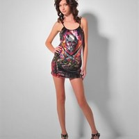 Ed Hardy Sequence Hot Scull Dress -  Modnique.com