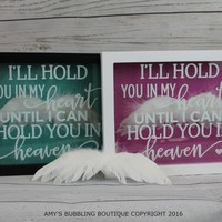 Miscarriage Memorial Box - Memorialize your unborn baby with our beautiful memorial shadow box filled with angel wing feathers