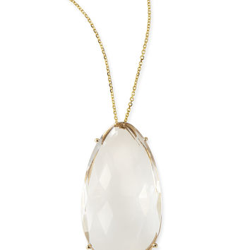 Pear White Quartz Pendant Necklace - KALAN by Suzanne Kalan