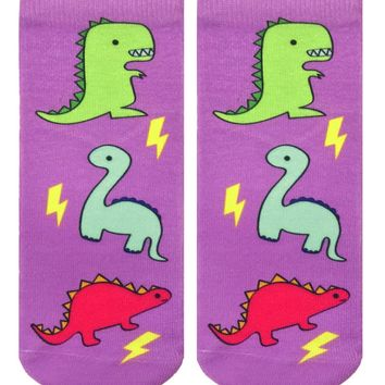 Dino Party Ankle Socks