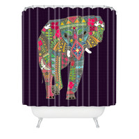 Sharon Turner Painted Elephant Shower Curtain