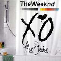 "XO The Weeknd Drake YMCMB 2 christmas gift, Custom Shower curtain, Sizes available size 36""w x 72""h 48""w x 72""h 60""w x 72""h 66""w x 72""h"