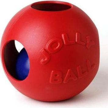 """Jolly Pets Teaser Ball Dog Toy 6"""" Red"""