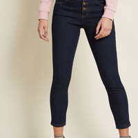 Karaoke Seamstress Skinny Jeans in Dark Wash - 26""