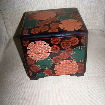 Metropolitan museum of Art 1992 Japanese 3 tier Lacquer box jubakko box jewelry box