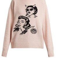 Graphic-intarsia wool and cashmere-blend sweater | Prada | MATCHESFASHION.COM US
