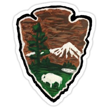'National Parks Painting' Sticker by Noble Bison
