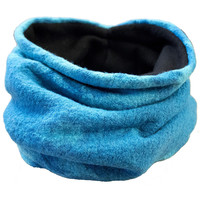Turquoise Tie Dye Wool Neck Warmer