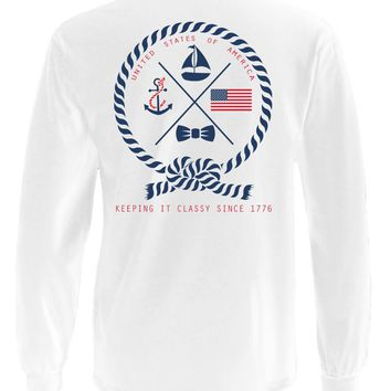 'Keeping It Classy Since 1776' Long Sleeve Pocket Tee