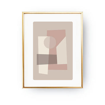 Abstract Poster, Geometric Textures, Minimal Poster, Textured Wall Art, Pink Pastel Painting, Pastel Decor, Geometric Shapes, Nordic Design
