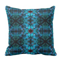 Blue kaleidoscope pattern cushion