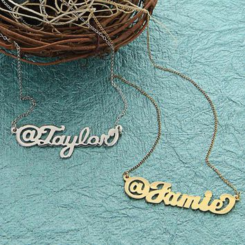 Twitter Name Necklace In Sterling Silver   Np30605 Gpss
