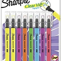 Sharpie Clear View Highlighter Stick, Assorted, 8 Pack (1966798)