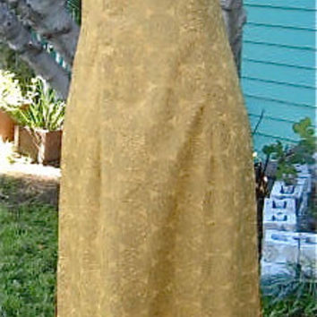 Elegant 50s 60s CHEONG SAM  Chinese Dress GOLD Design