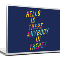 Hello Is There Anybody Pink Floyd Laptop Skin