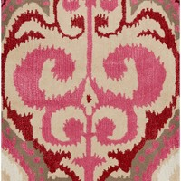 Surya Banshee BAN3349 Pink/Red Ikat and Suzani Area Rug