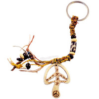 Mushroom Peace Bone Keychain on Sale for $4.95 at The Hippie Shop