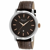 Kenneth Cole KC1953 Men's New York Modern Core Brown Dial Brown Leather Strap Watch