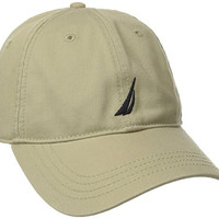 Nautica Men's Twill 6-Panel Cap,Khaki,One Size
