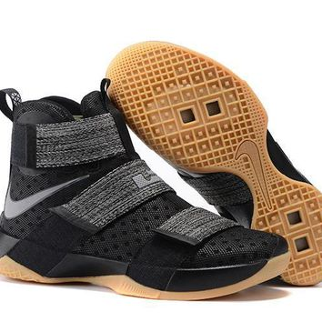 Nike LeBron Soldier 10 EP Black/Raw Sneaker US7-12