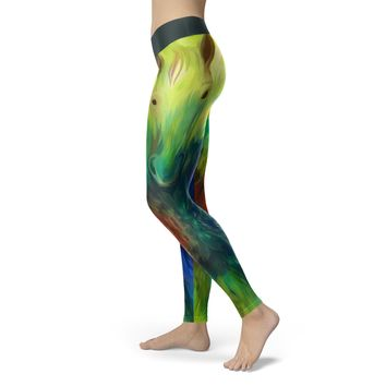 Oil Painted Horse Leggings