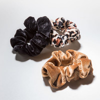 FULL TILT 3 Pack Leopard Scrunchies