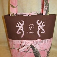Custom handmade pink realtree browning camo purse your choice of name