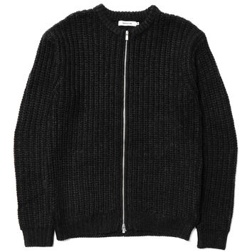 Dweller Full Zip Sweater - Wool Yarn Rib