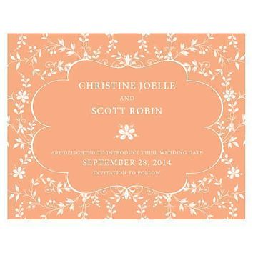 Forget Me Not Save The Date Card Ruby (Pack of 1)