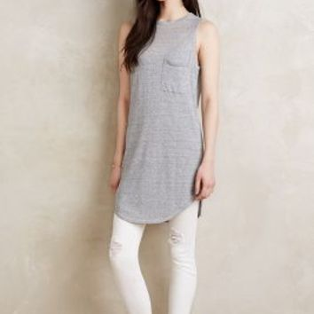 Callahan Linen Tunic Tank in Grey Size:
