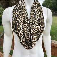 Women's-Handmade-Leopard Print-Animal Print-Fall-Chunky-Light-Polyester-Infinity Scarf-Accessories-Gifts for Her