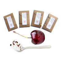Bing Cherry Blush Scented Envelope Sachets - Rustic Cherry Favors - Cherry Vanilla Scent - Brown Wine Color - Minimalist Valentines Day Gift