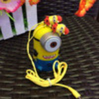 2014 Despicable Me Cartoon Anime the Minion Style 3.5mm in ear Headphone Earphone headsets for Phone MP3 player PC Computer - Default