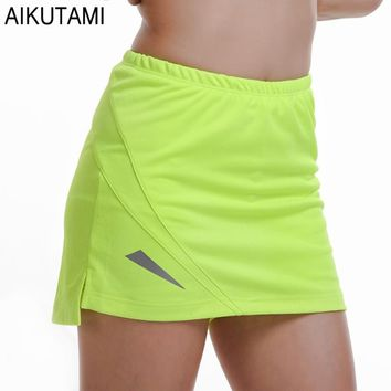 PRO Tennis Skirt Women Solid Breathable Quick Dry Skort Skirt Sport Tenis Jupe Culotte Golf Skirt  Beach Volleyball Gym Wear