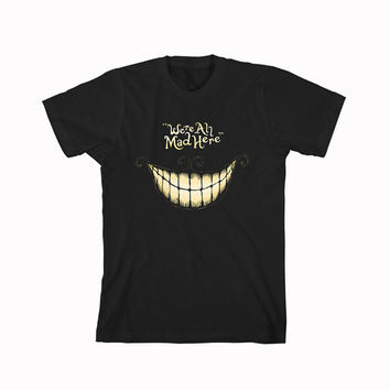 alice in wonderland were all mad here For T-Shirt Unisex Aduls size S-2XL