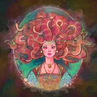 Medusa Art Print by Kindra Haugen | Society6