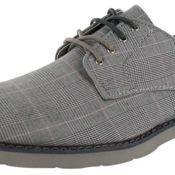 GBX Nesky Men's Plaid Oxfords Casual Dress Shoes
