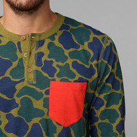 CPO Printed Map Henley Shirt - Urban Outfitters