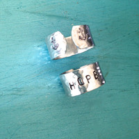 Hope Ring - Anchor Hand Stamped Jewelry -  Gifts for Her