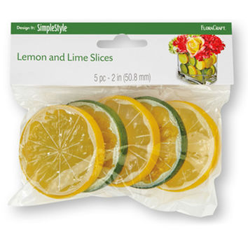 Design It Simple Decorative Fruit 5/Pkg-Lemon & Lime Slices