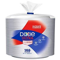 Dixie Ultra 10 1/16 in Paper Plate, 186-count