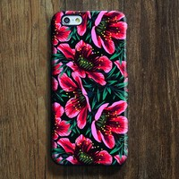 Pink Chic Floral iPhone XR Case | iPhone XS Max plus Case | iPhone 5 Case | Galaxy Case 3D SW01