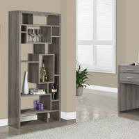 "Bookcase - 72""H / Dark Taupe"