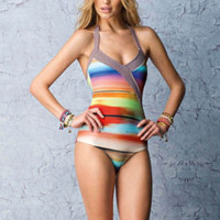 SAHA Swimwear- Iwa Triangle One Piece Tie Dye | ShopMiamiStyle