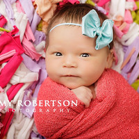 Baby Headband / Newborn Headband / Infant Headband / CLEMENTINE Bows - Sweet n petite Newborn Bow Headband