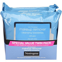 Neutrogena Makeup Removing Wipes Twin Pack, 2 Count