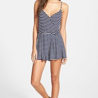 Junior Women's Socialite Stripe Romper,