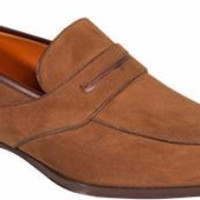 Moura Suede Loafer by Mezlan
