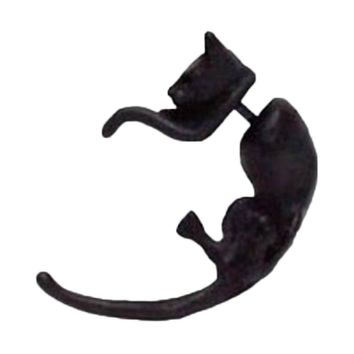 Fashion Jewelry Stereo-fluorescence Long Tail Leopard Cat Piercing 1 Piece Ear Stud
