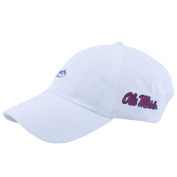 Ole Miss Collegiate Skipjack Hat in White by Southern Tide
